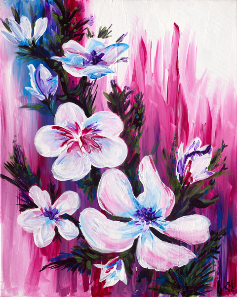 Abstract Artwork: Purple Flowers |  Tufano's Gallery