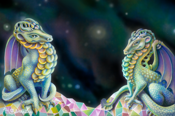 Dragon Friends - Fine Art Prints For Sale - The Art of Ishka Lha
