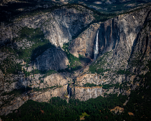 Fine Art Print of Sierra Mountains Surround Yosemite Falls