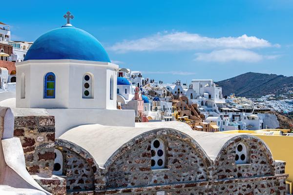 South Aegean, Cyclades, Greece, Oia, Santorini