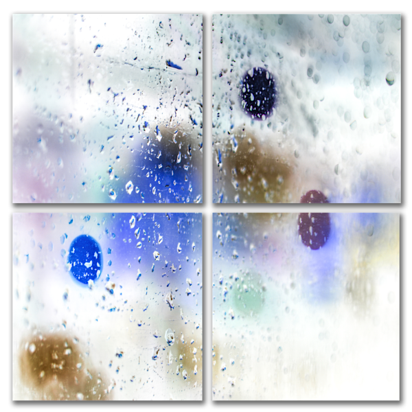 Rain Has Color - 4 Piece Square Art