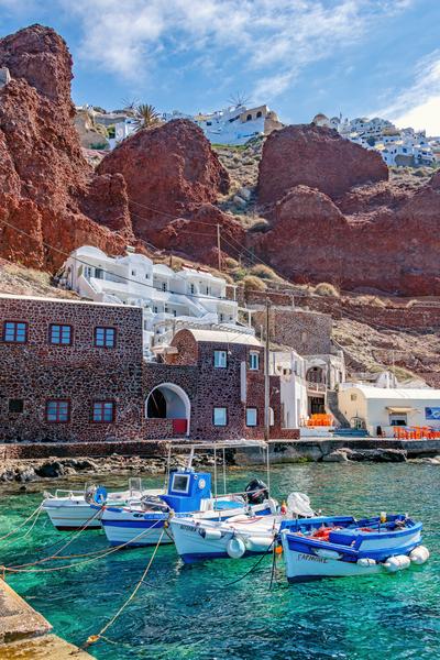 Amoudi Bay, Oia, Santorini, Greece, Cyclades,