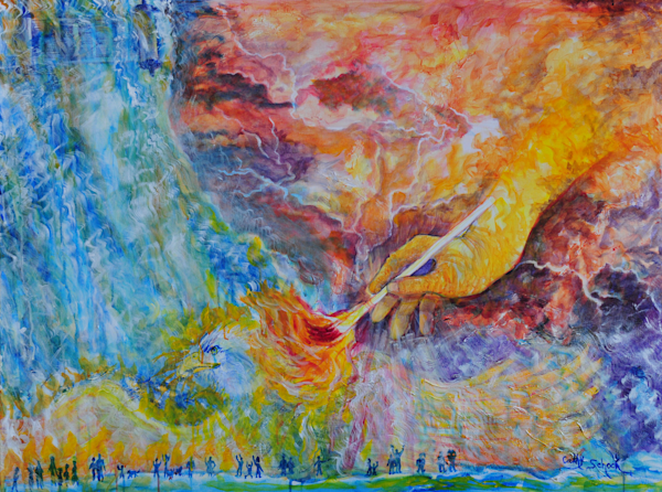 """""""One Touch Ignites My Soul"""" by Ohio Artist Cathy Schock 