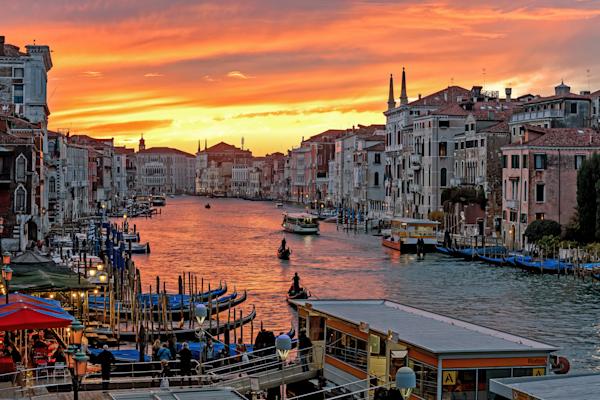 Venetian Lagoon,  Rialto Bridge, Ponte dell'Accademia, Constitution Bridge, Ponte degli Scalzi, Ponte della Libertà, Venice, Italy
