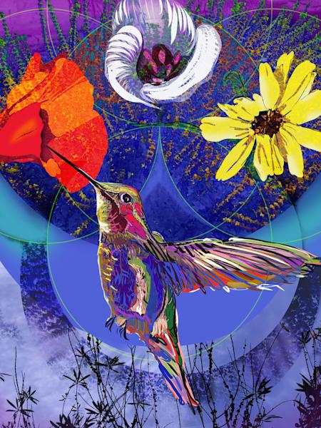 Night Hummingbird Art | Emily Tanaka - Have to Create