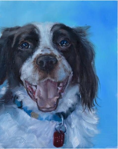 "Custom Oil Pet Portrait Gift Card 11x14"""