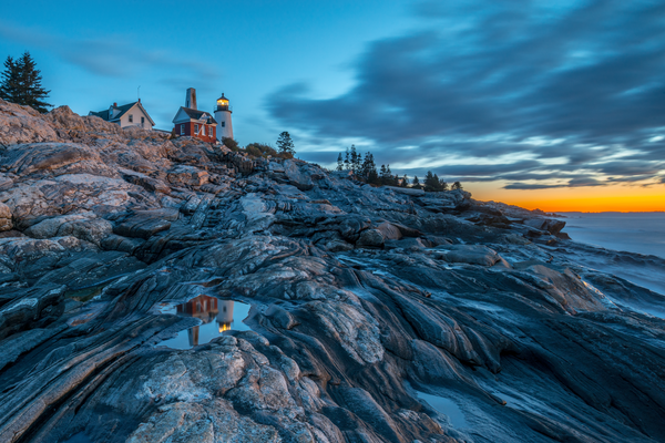 Pemaquid Point Light Sunrise Photography Art | Craig Primas Photography