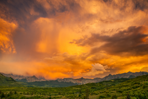 Fire Sky Above Mount Sneffels Photography Art | Craig Primas Photography