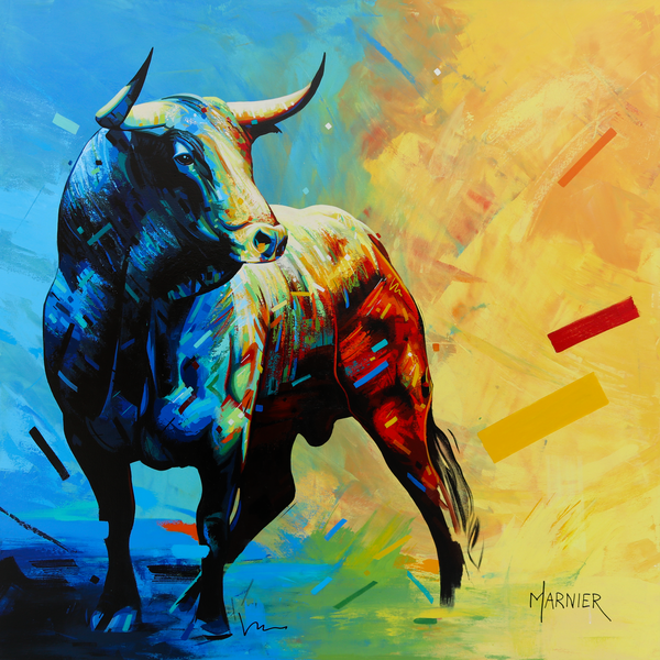 art, painting, animal, Bull, kine, bullock, Bos taurus, cows, cattle oxen, horn
