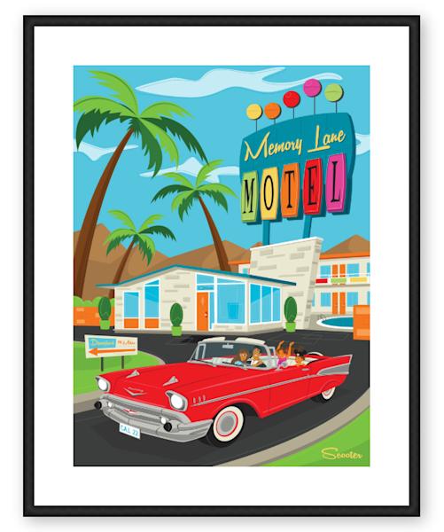 Trip Down Memory Lane Custom 16x22 Framed & Matted Print