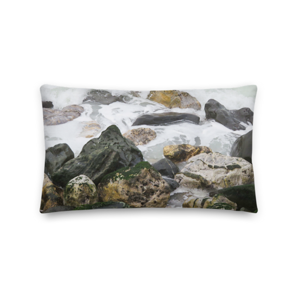 """Rockaway Rocks 1"" Pillow 