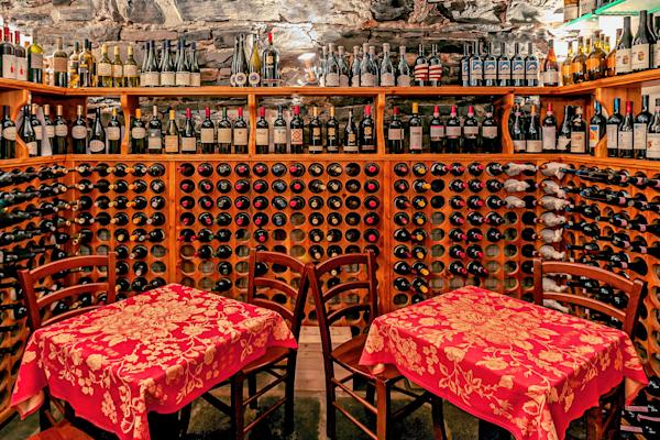 Art Print: Bellagio Lake Como Italy Underground Wine Cellar