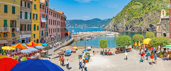 Art Print: Vernazza Cinque Terre Italy Panoramic Vernazza Piazza