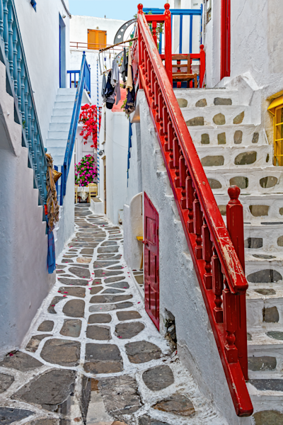 Art Print Chora Mykonos Greece  Labyrinth and Color  | Louis Cantillo