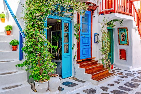 Art Print Chora Mykonos Greece Colorful Maze | Louis Cantillo