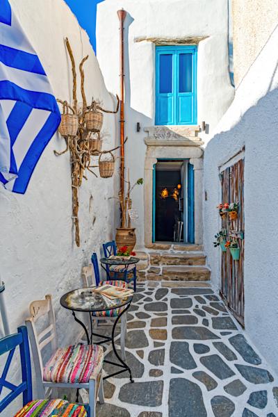 Art Print Old Town Naxos Greece Meli Kanela | Louis Cantillo