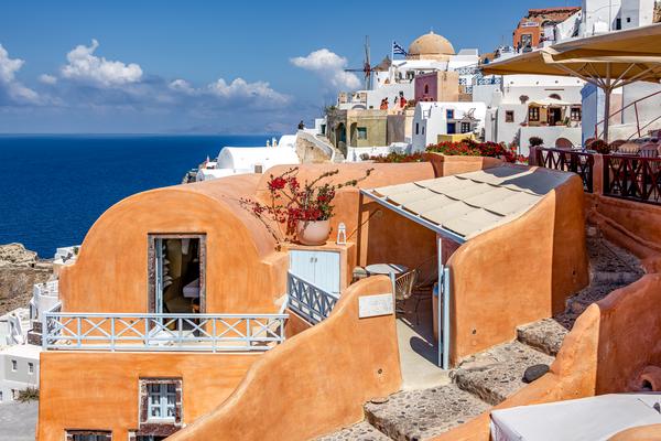 Art Print Oia Santorini Greece Kastro Oia Houses | Louis Cantillo