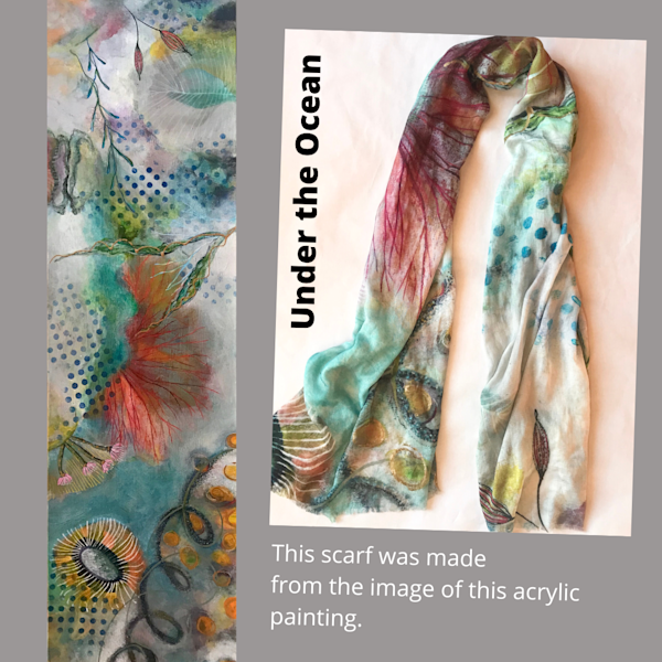 Under The Ocean Scarf | Debbie Dicker - Art