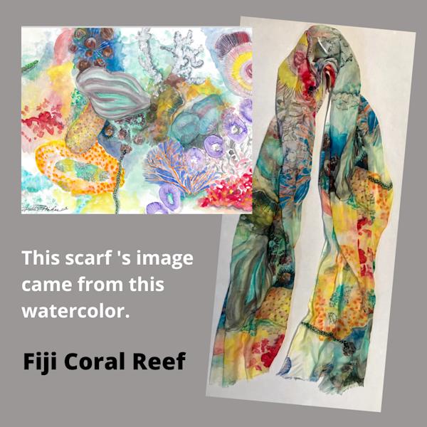 Fiji Coral Reef Scarf