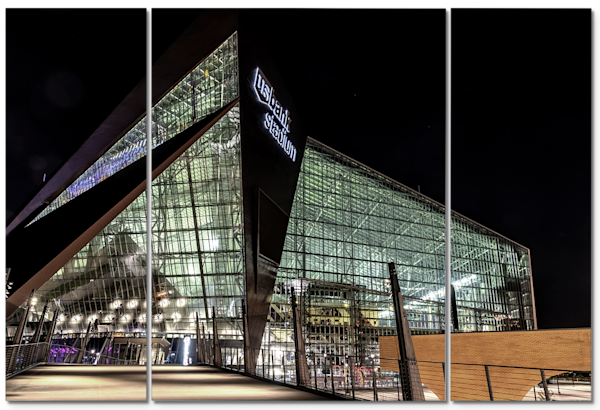 US Bank Stadium Closeup - Minneapolis Canvas Art | William Drew Photography