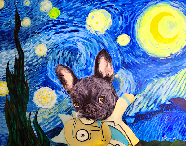 Starry Frenchie  Art | Alice MC