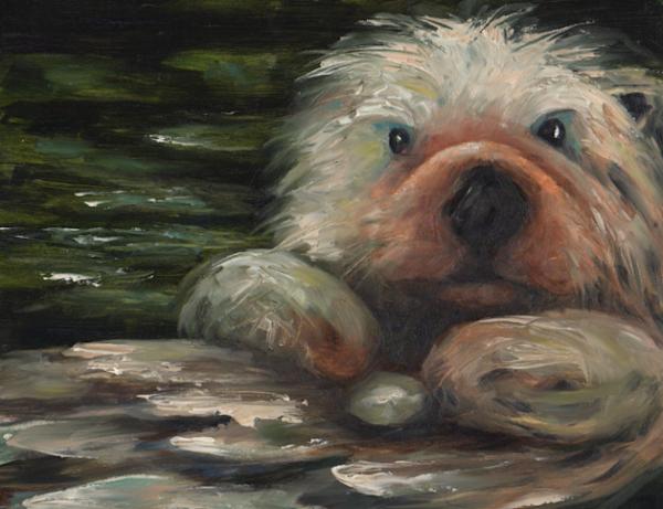 Otter Oil Painting II