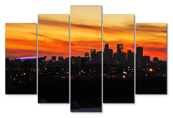 Minneapolis Sunset - Minneapolis Panel Art | William Drew Photography