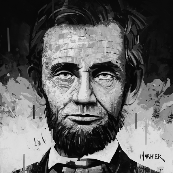 Art, painting, 16th president, Abraham Lincoln, politic, public figure, good man