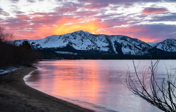 Tallac Sunset Glow Photography Art | David N . Braun Photography