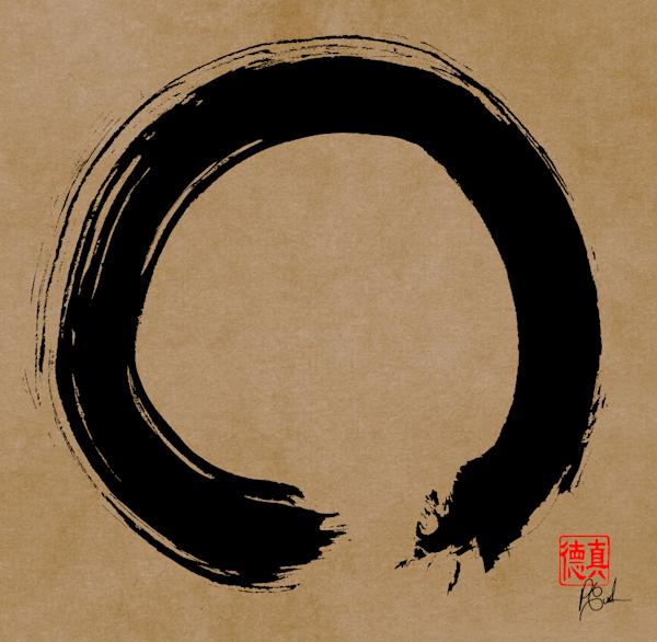 Zen Circle (Enso) 5 (brownBG)