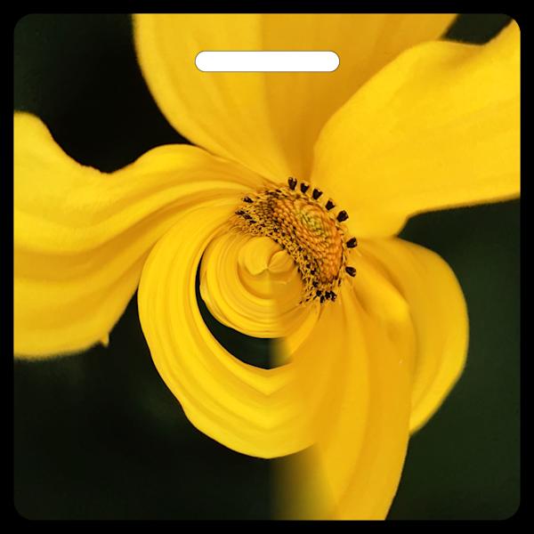 Golden Petals- Bag Tag