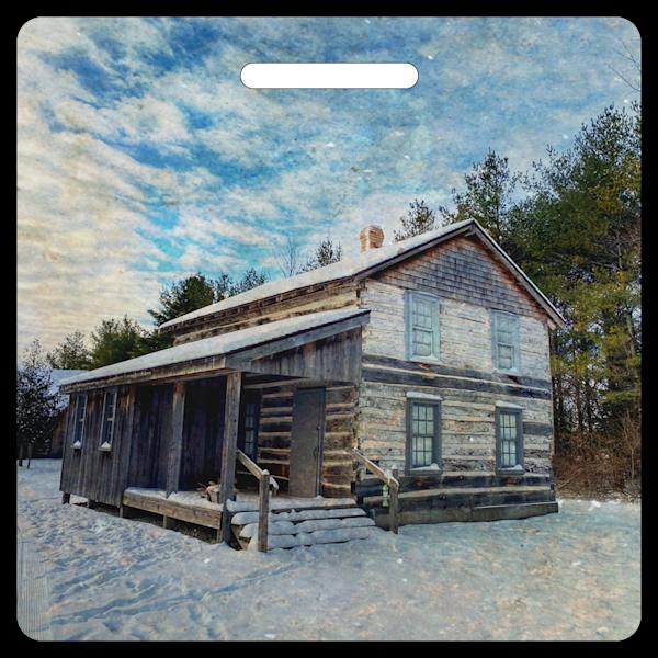 Winter Cabin- Bag Tag
