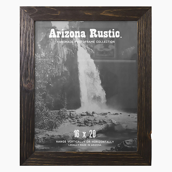 16x20 Deep Ebony Arizona Rustic Wall Frame | Hall of Frames