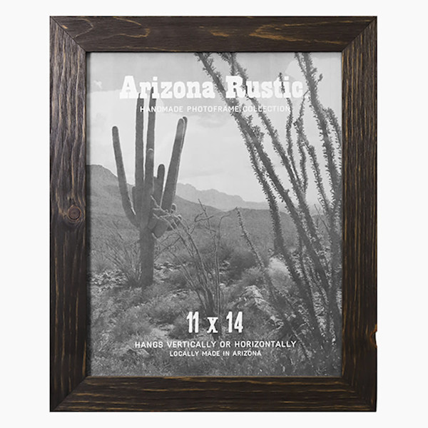 11x14 Deep Ebony Arizona Rustic Wall Frame | Hall of Frames