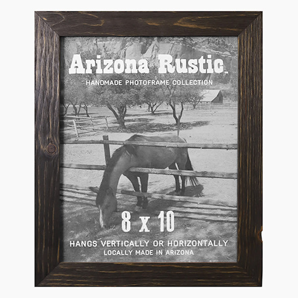 8x10 Deep Ebony Arizona Rustic Wall Frame