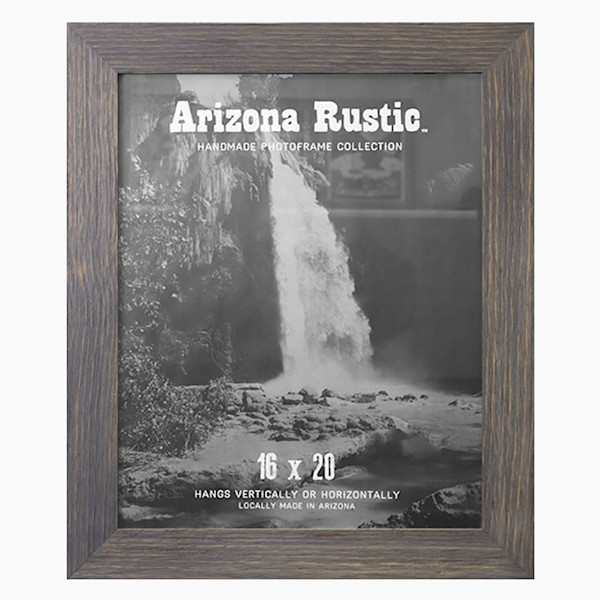 16x20 Classic Gray Arizona Rustic Wall Frame