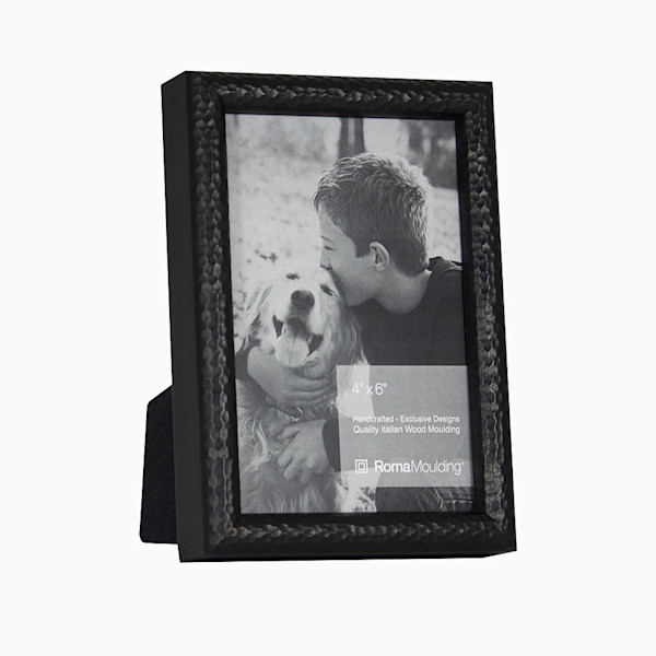 Roma Photo Frame | 4x6 Black Hammered