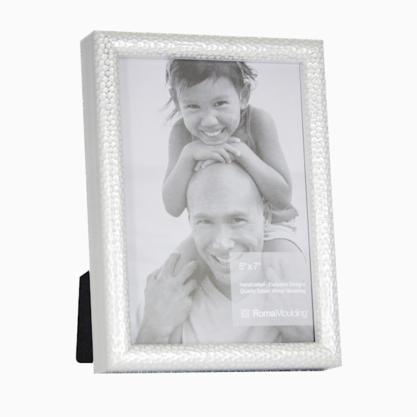 Roma Photo Frame | 5x7 Silver Hammered
