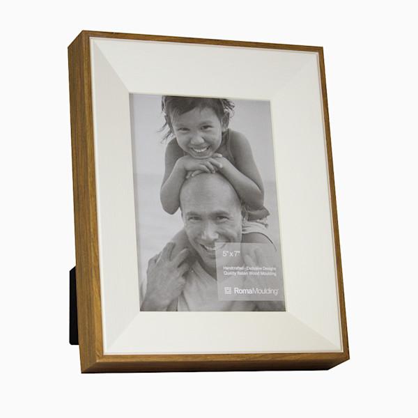 Roma Photo Frame | 5x7 White Ramino Slant