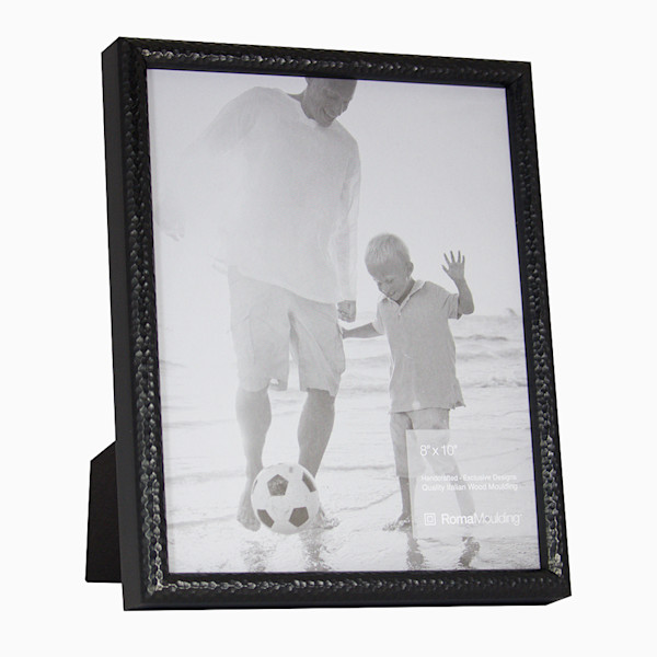 Roma Photo Frame | 8x10 Black Hammered