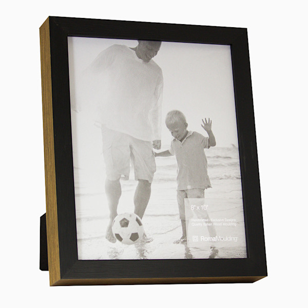 Roma Photo Frame | 8x10 Black Ramino