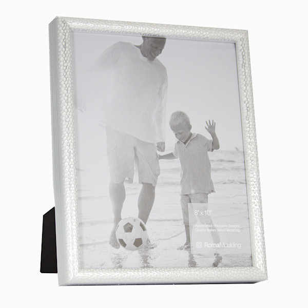 Roma Photo Frame | 8x10 Silver Hammered