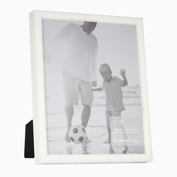Roma Photo Frame | 8x10 White Hammered