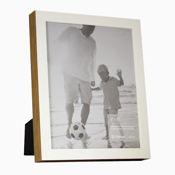 Roma Photo Frame | 8x10 White Ramino