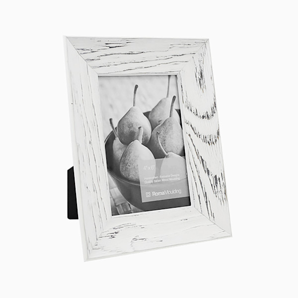 Roma Photo Frame | 4x6 Rubbed White