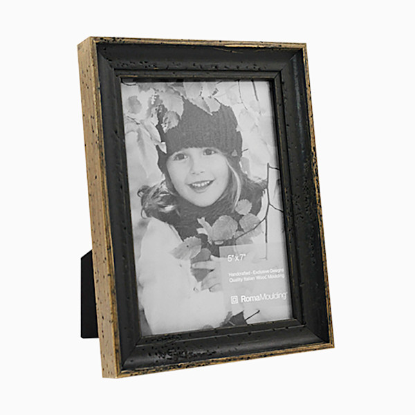 Roma Photo Frame | 5x7 Rustic Black