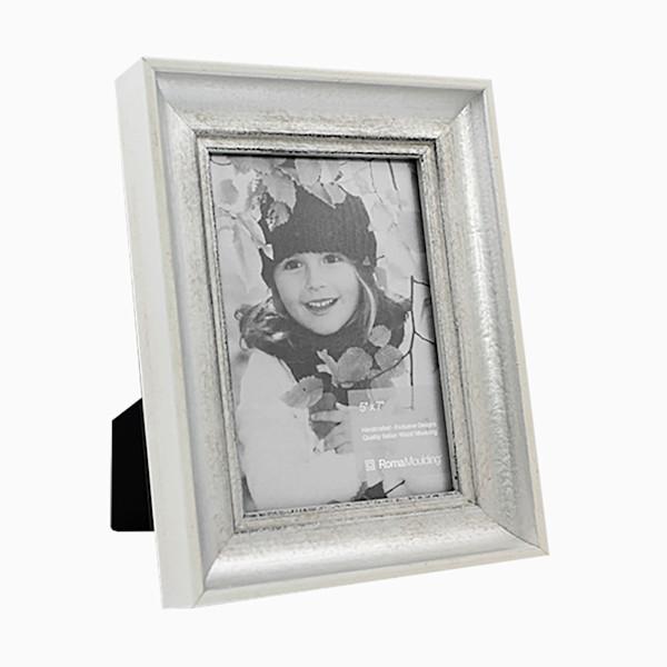Roma Photo Frame   5x7 Antique White