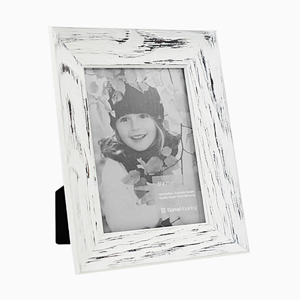 Roma Photo Frame | 5x7 Rubbed White