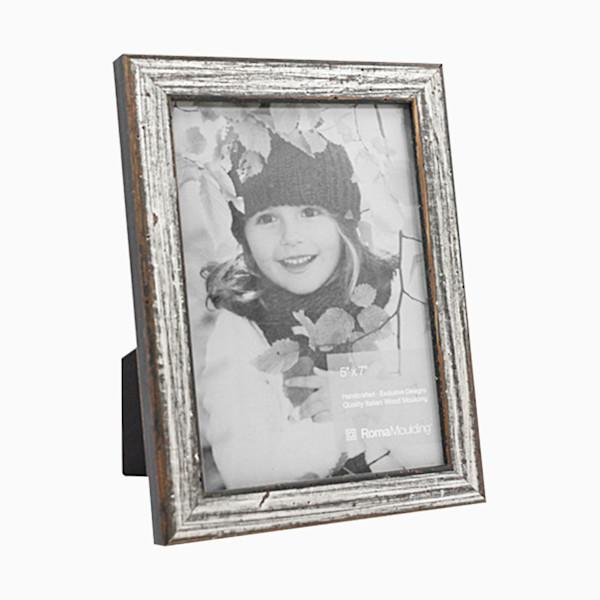Roma Photo Frame | 5x7 Antique Silver