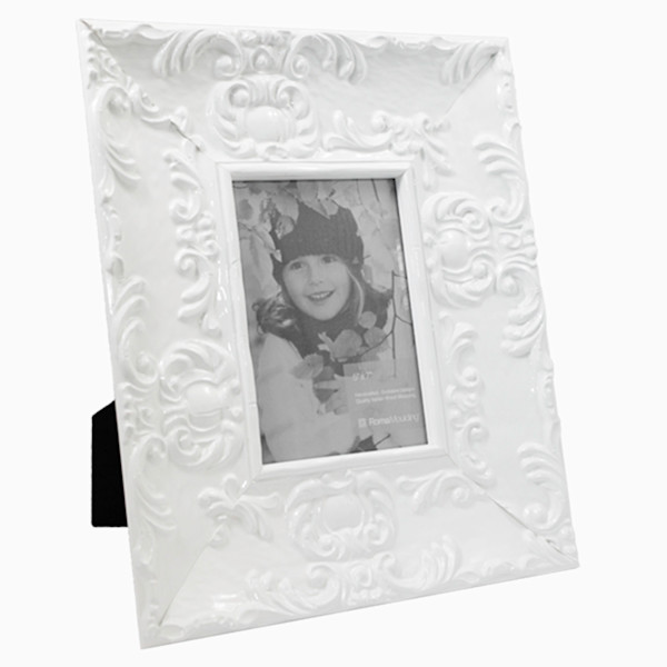 Roma Photo Frames   5x7 Wide Electric White